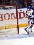 New York Rangers goalie, HENRIK LUNDQVIST, watches Tampa Bay Lightning's Valleri Filppula's go ahead goal sail into the net in the second period of game 5 at Madison Square Garden. Tampa Bay went on to win 2-0, taking a 3-2 lead in the series.(AP Photo/Dick Druckman)