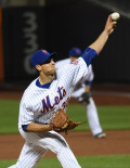 New York Mets starting pitcher, STEVEN MATZ, throws a strike to San Francisco Giants third baseman Matt Duffy in the top of the 5th inning. MATZ pitched shutout ball for 6 innings, allowing 7 hits, striking out 4, and allowing 3 walks.The Mets went on to win 13-1.