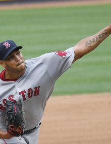 Boston Red Sox EDUARDO RODRIGUEZ retires New York Yankees
