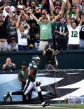 Philadelphia Eagles wide receiver, JORDAN MATTHEWS, scores a touchdown