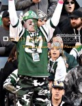 JET MAN, formerly known as Fireman Ed, leads Jets Cheers