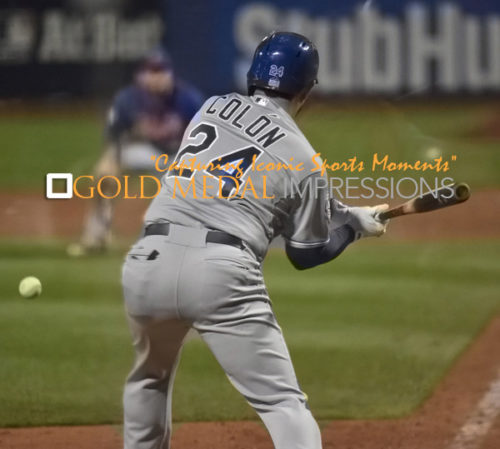 Kansas City Royals CHRISTIAN COLON drives in the winning run