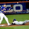 Kansas City Royals JARROD DYSON slides safely into second base