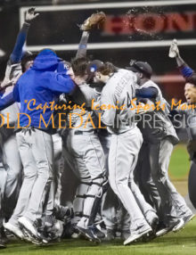 Kansas City Royals celebrate winning the 2015 World Series