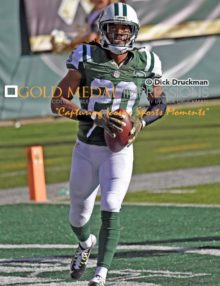 New York Jets MARCUS WILLIAMS intercepts the first of 2 passes against the Jaguars