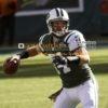 New York Jets quarterback RYAN FITZPATRICK eyes Eric Decker down field