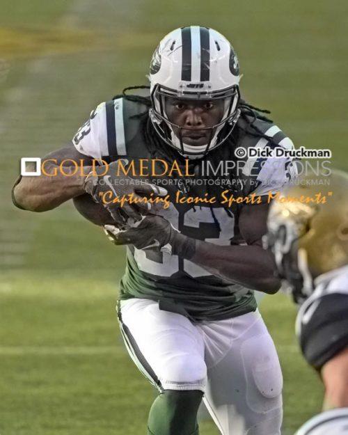 New York Jets running back CHRIS IVORY eyes the goal