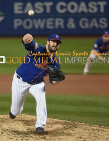 Mets MATT HARVEY throws his last pitch of the game