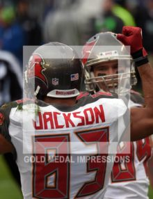 Tampa Bay Buccaneers wide receiver VINCENT JACKSON celebrates scoring on a 12 yard touchdown pass play in the second quarter against the Philadelphia Eagles at Lincoln Financial Field. The Buccaneers went on to win 45-7.