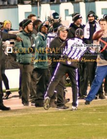 Philadelphia Eagles head coach, CHIP KELLY, bitterly complains to the referee about a pass interference call against the Eagles in the third quarter which ultimately led to a Seattle score. The Seahawks went on to win 24-14,
