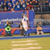 Indianapolis Colts tight end, DWAYNE ALLEN, catches a touchdown pass in the third quarter against the New York Giants all alone in the endzone with no Giant defenders within 20 yards of him, giving the Colts a 37-10 lead. The Colts went on to win 40-24.