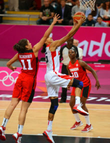 USA Candace Parker drives for a score against Canada in the first quarter of the quarter finals of the women's basketball competitiion. Parker scored 12 points ina 91-48 victory.(AP Photo/Dick Druckman)USA Candace Parker drives for a score against Canada in the first quarter of the quarter finals of the women's basketball competitiion. Parker scored 12 points ina 91-48 victory.(AP Photo/Dick Druckman)USA Candace Parker drives for a score against Canada in the first quarter of the quarter finals of the women's basketball competitiion. Parker scored 12 points ina 91-48 victory.(AP Photo/Dick Druckman)