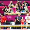 USA gymnist Aly Raisman competes on the beam during the 2012 Summer Olympics in London England. Aly Reisman on the beam