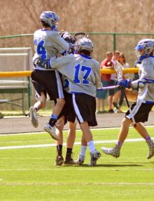 DANNY BELLERRA CELEBRATES SCORING AGAINST WWP SOUTH