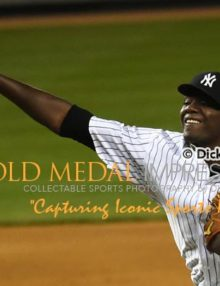 New York Yankees starting pitcher, MICHAEL PINEDA, throws strike to New York Mets outfielder,CURTIS GRANDERSON, in the eighth inning at Yankee Stadiium in the Subway Series Opener. PINEDA(3-0) allowed only 5 hits and one earned run in 7 2/3 innings striking out 7 and no walks, Zading the Yankees to a 6-1 victory.(AP Photo/Dick Druckman)