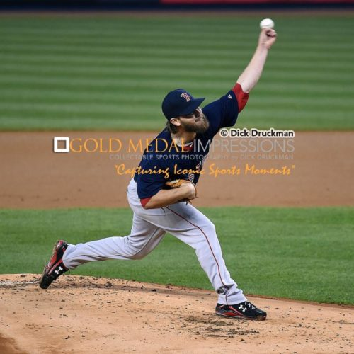 Boston Red Sox starting pitcher, WADE MILEY, throws first pitch of the game against JACOBY ELLSBURY at Yankee Stadium. MILEY pitched for 5 1/3 innings, giving up 4 hits, 2 earned runs, 2 bases on balls, with 6 strike outs. The Red Sox went on to win 6-5 in 19 innings.(AP Photo/Dick Druckman)