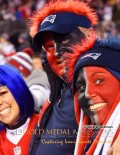 New England Patriots avid fans cheer for their team against the Indianapolis Colts during the AFC championship game in Foxboro, Massachusetts. The Patriots won 45-7, earning a trip to Super Bowl 49 against the Seattle Seahawks.