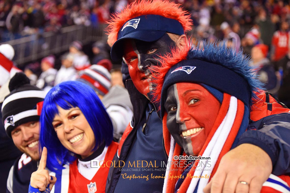 Patriots Avid Fans Cheer For Their Team Against Colts
