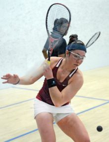Harvard University Amanda Sobhy Wins Women's National Championship Defeating Trinity College Kanzy El Defrawy 3-0
