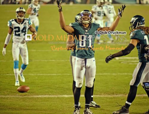 Philadelphia Eagles wide receiver JORDAN MATTHEWS celebrates scoring his second touchdown against the Carolina Panthers. The Eagles defeated the Panthers 45-21.