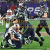 New England Patriots defensive end, ROB NINKOVICH, sacks RUSSELL WILSON in the fourth quarter of Super Bowl XLIX. The Patriots went on to win 28-24.