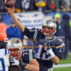 New England Patriots quarterback, TOM BRADY, completes pass in the first quarter against the Indianapolis Colts. Brady threw for 226 yards and 3 touchdowns leading the Patriots to a 45-7 victory and a trip to Super Bowl 49.
