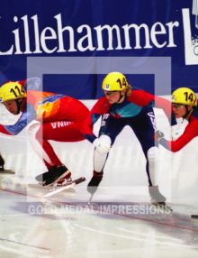 1994 SPEED SKATERS GET SET LILLEHAMMER OLYMPICS