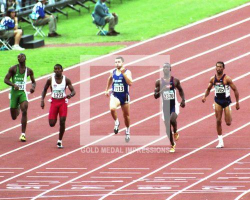 1996 MICHAEL JOHNSON WINS GOLD MEDAL ATLANTA OLYMPICS
