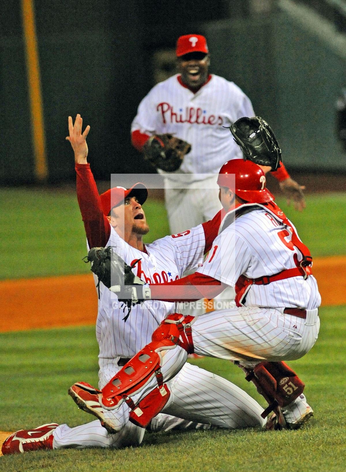 Phillies Brad Lidge Celebrates 2008 World Series Victory