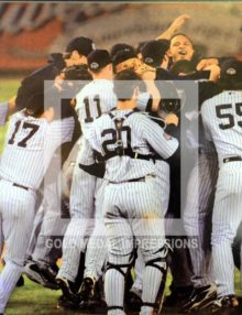 2009 NEW YORK YANKEES CELEBRATE WINNING THE WORLD SERIES