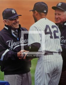 2010 YOGI BERRA AT NEW YORK YANKEES HOME OPENER