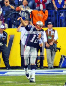 TOM BRADY HURLS DESPERATION PASS SUPER BOWL XLVI