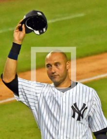 New York Yankees captain, Derek Jeter, waves good by to the fans at Yankee Stadium for the last time. Derek went 2 for 5, driving in 3 runs and hitting a walk-off single in his final Yankee Stadium at-bat.(AP Photo/Dick Druckman