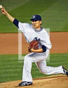 NEW YORK YANKEES MASAHIRO TANAKA FIRST PITCH AGAINST LA ANGELS