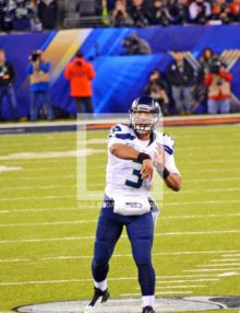 SEATTLE SEAHAWKS QUARTERBACK RUSSELL WILSON PASSES SUPER BOWL XLVIII