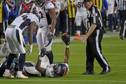 409 DANNY TREVATHAN RECOVERS FUMBLE