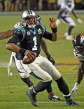 CAM NEWTON ON THE RUN FROM DENVERS FEROCIOUS DEFENSE