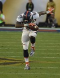 DENVER INSIDE LINEBACKER DANNY TREVATHAN TAKES A BOW AFTER RECOVERING A FUMBLE