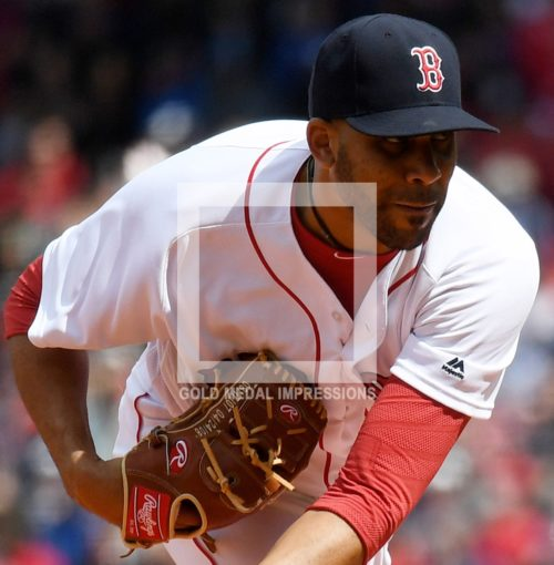 Boston Red Sox starting pitcher DAVID PRICE throws the first pitch of his first Fenway Park home opener against the Baltimore Orioles center fielder Joey Rickard. PRICE had a very mediocre start giving up 5 runs in 5 innings with 8 strikeouts and 2 walks. The Red Sox lost their home opener 9-7.