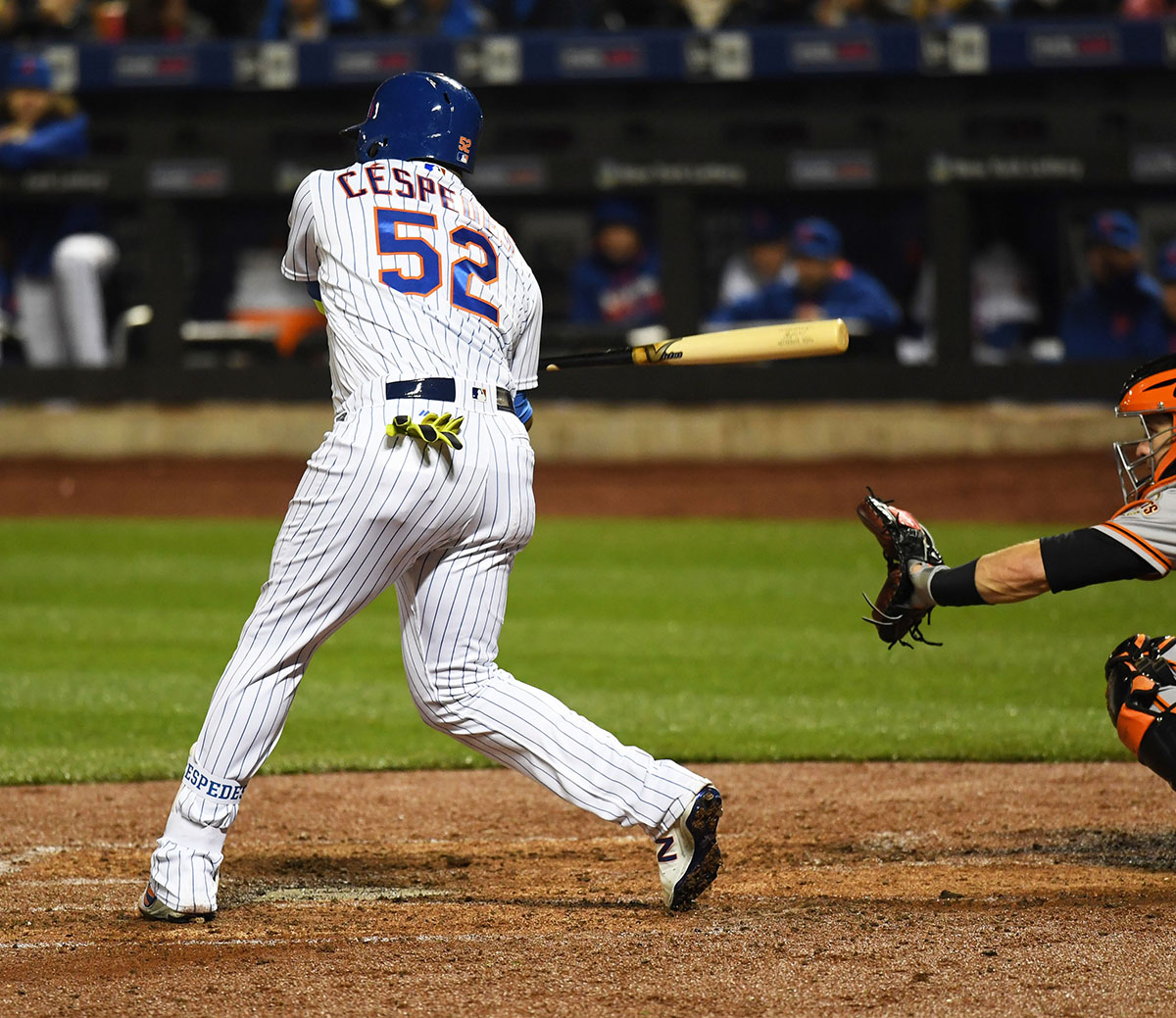 uk availability f50f6 62005 New York Mets YOENIS CESPEDES singles in the third inning driving in the  second of 12 runs