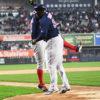 Boston Red Sox DAVID ORTIZ(BIG PAPI) and XANDER BOGAERTS celebrate homer