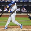 Los Angeles Dodgers CHASE UTLEY hits a grand slam