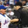 New York Mets manager, TERRY COLLINS, argues with home plate umpire