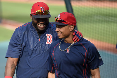 Two Heroes of the Red Sox Orioles series David Ortiz and Mookie Betts