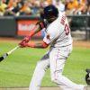 Boston Red Sox DAVID ORTIZ(Big Papi) hits his 18th home run of the year