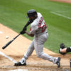 Boston Red Sox JACKIE BRADLEY JR. singles in the second