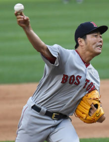 Boston Red Sox relief pitcher KOJI UEHARA retires the New York Yankees