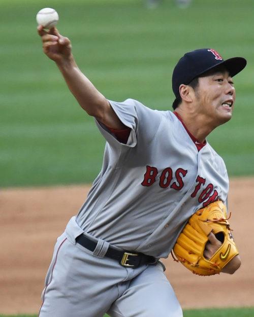 Boston Red Sox relief pitcher KOJI UEHARA retires the New York Yankees