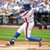 New York Mets CURTIS GRANDERSON homers in the first inning