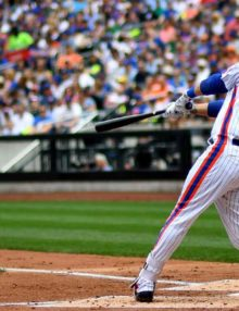 New York Mets WILMER FLORES hits his first of 2 home runs